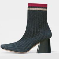 赛琳(Celine)SOFT BALLERINA罗纹针织及踝袜靴