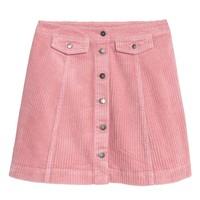 H&M 灯芯绒A字半身短裙