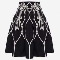 Alexander McQueen ART NOUVEAU 提花迷你半身裙